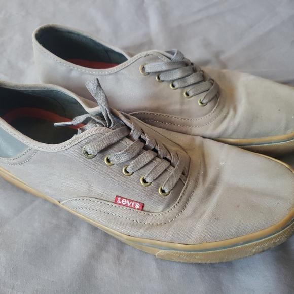 Levis mens canvas sneakers shoes size 11